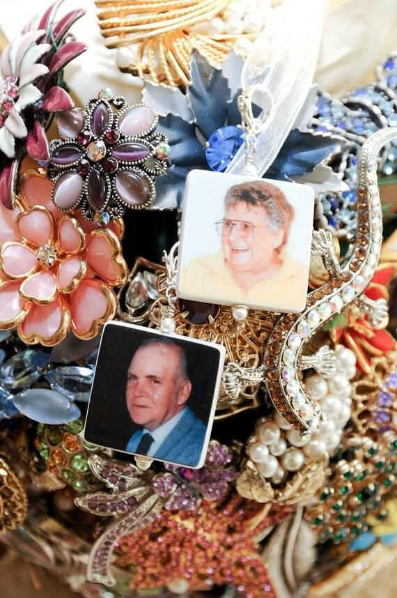 BC2x2 - Medium Memorial Photo Charms - 2 Custom Bouquet Jewelry Charms