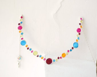 Colorful Jewelry, Statement Bubble Necklace, Rainbow Jewelry