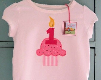 Happy Birthday Shirt- Cupcake with Number Candle
