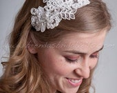 Bridal Lace Headband, Wedding lace Headband - Sabrina