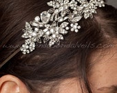 Rhinestone Bridal Headband, Wedding Headband - Candice