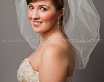 "Wedding Veil, Bubble Bridal Veil 25"" Layer - White, Diamond White, Ivory - il_214x170.315287528"