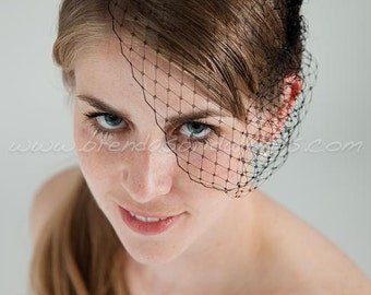 Mini Petite Bridal Birdcage Veil, Bride or BridesMaids, Wedding Veil, Available In Many Colors