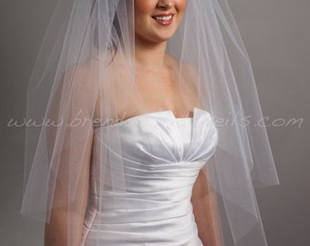Tulle Bridal Veil Double Layer, Wedding Veil - Ivanna
