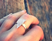 Triangular Ring- sterling silver