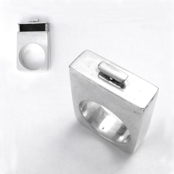 OOAK Drawer Ring-sterling silver