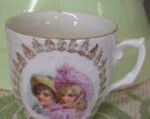 Antique tea cup Victorian tea cup Victorian china tea cup childs tea cup Victorian girl Victorian boy