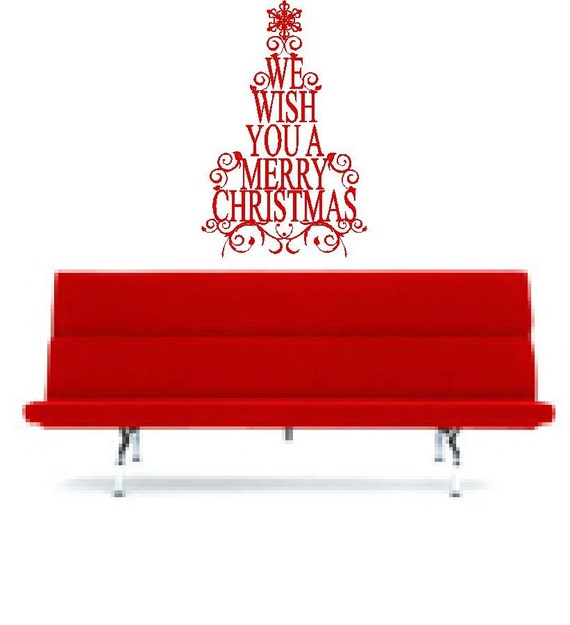 We Wish You A Merry Christmas Tree Decoration Vinyl Wall Letter Decal