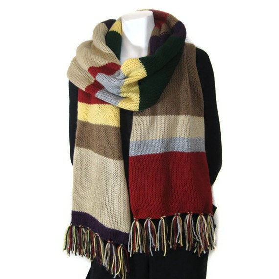 Doctor Who Scarf Super Long Over 6ft Long - Ready to SHIP