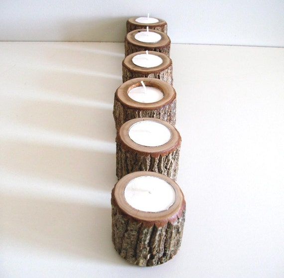 Babes in the Woods 6 Rustic Candle Holders