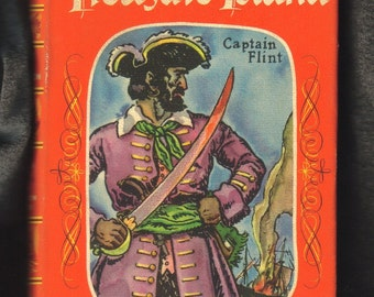 Vintage Book, Treasure Island,  1946,  Robert Louis Stevenson, Captain Flint, Rainbow Classic  (387-10)