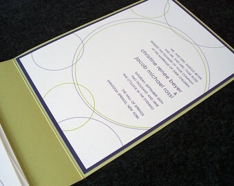 "Modern Circles Wedding Invitation - ""Soho"""
