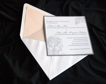 "Roses Wedding Invitation Sample - ""Aberdeen"""