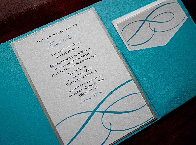 Elegant modern wedding invitation sample zion for Modern wedding invitations free samples