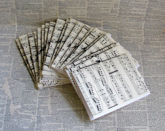 20 vintage music sheet pamphlet journal set