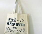vintage 80s The Official Sleep Over Travel Tote Bag