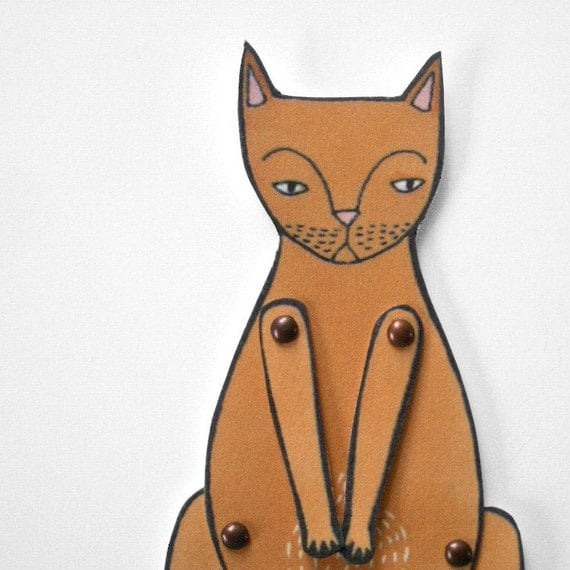kitty cat moveable paper doll (in ginger)
