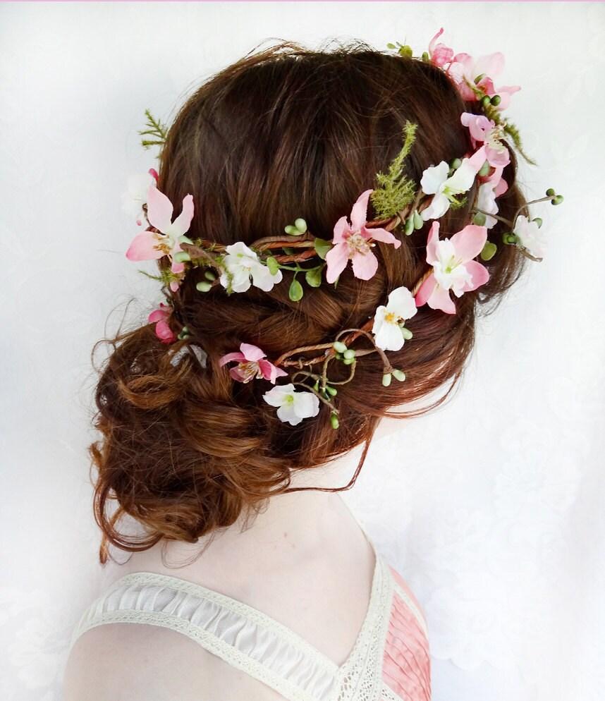 Floral Wedding Hairstyles: Floral Crown Rustic Wedding Flower Crown Woodland Bridal