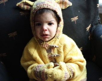 Twiga Hoodie Giraffe Hooded Jacket for Babies/Toddlers KNITTING PATTERN PDF