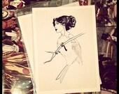 Art Print. Illustration. 8x10.Lady Bird by LB