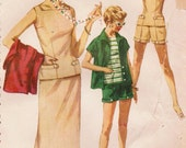 1950s Simplicity 1124 Vintage Sewing Pattern Junior Misses' Overblouse, Skirts, Shorts, Jacket Size 15 Bust 33