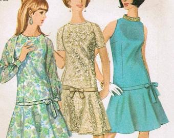 1960s Simplicity 7121 UNCUT Vintage Sewing Pattern Misses' Dress Size 10 Bust 31