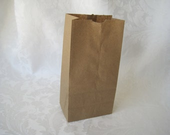 100 Paper Bags, Gift Bags, Brown Paper Bags, Kraft Bags, Candy Bags, Small Paper Bags, Merchandise Bags, Lunch Bags, Gusset Bags 8x2.5x4