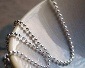 Sterling silver chain 1.5mm Faceted Round Diamond Cut, Italian Chain