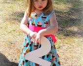 The Birthday Girl Cupcake Dress - Custom Boutique Clothing - 6m, 12m, 18m, 2t, 3t, 4t, 5t
