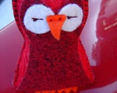 Hot Rod the Wolly Pop - stuffed felt owl