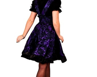 Gothic Lolita Dress Steampunk Bridesmaids Purple Jumper - Petite to Plus size - Custom to your size - S-5XL