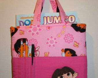 Dora Crayon Bag, Tote Bag, Crayon Tote Bag, Crayon Holder, Dora the Explorer