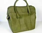 vintage avocado green carry on bag