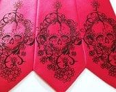 Necktie Mens Floral Skull tie, Day of The Dead