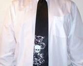 7 wedding ties. Distressed Skull Men's silkscreen neckties, groomsmen discount, mix or match colors - mens neck ties