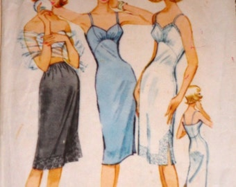 1950s McCall's 5199 Sewing Pattern, Slip And Petticoat, Size 14, 34 Bust
