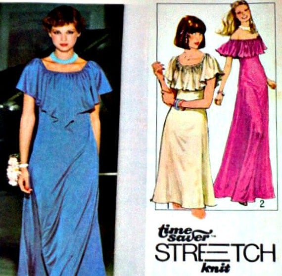 Vintage 1970's Simplicity 8419 Sewing Pattern, Pullover Dress In Two Lengths, Sizes 10-12-14, Factory Folded