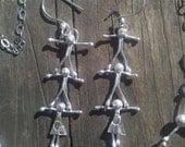 Sterling Silver Little People Earrings - Pyramid Kids - Customize