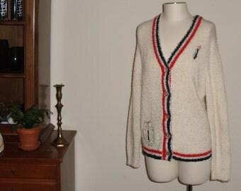 VTG Haymaker Sweater // 1950s // Golf // Cardigan Sweater // Preppy