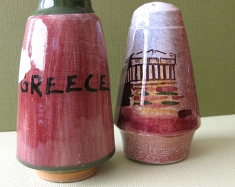 Pair of Greece Salt and Pepper Shakers