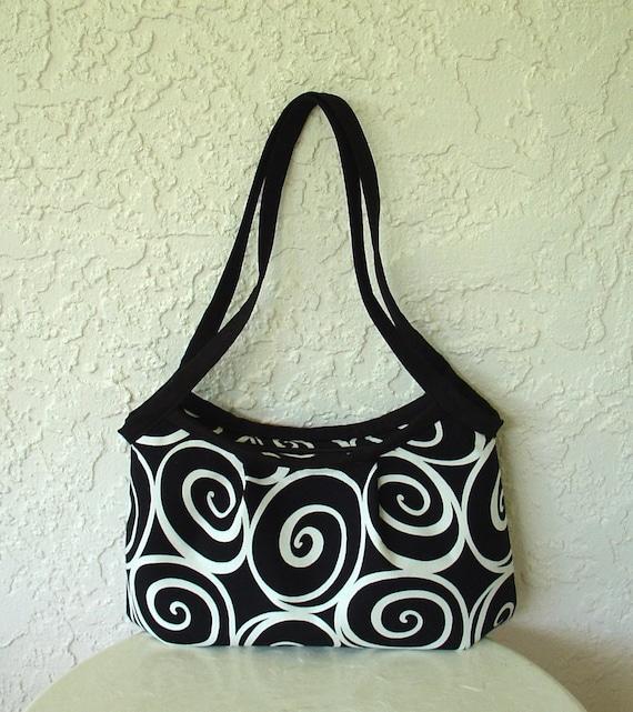 Womens Tote Bag, Medium Handbag, Zipper Closure, Handmade From Ironworks Black