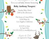 Printable Baby Shower Invitation - Woodland