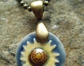 Brass Sunflower Pendant