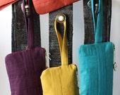 MidCent Wristlet- Mustard, Turquoise, or Purple Wristlet Clutch Bag