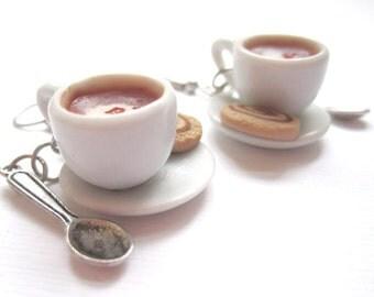Chai Latte Tea Cup Earrings