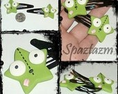 Invader zim inspired Gir star hair clips