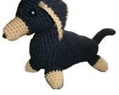 Dachshund Crochet Stuffed Dog PDF Pattern