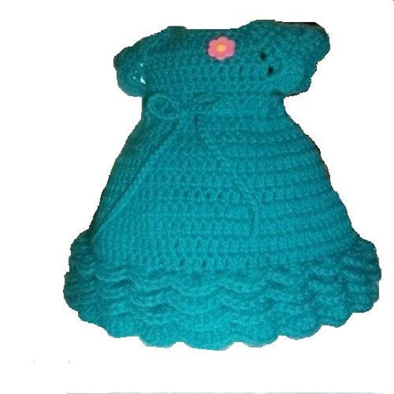Crochet Doll Dress Pattern for American Girl Doll or other 18 inches Dolls Ocean Dreams