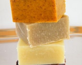 Sampler of Cold Process Soap Made with Organic Vegetable Oils