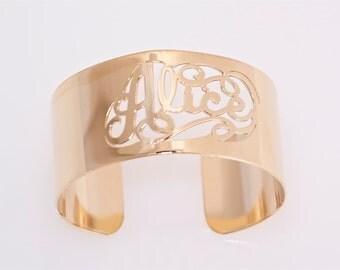 Personalized Gold Cuff